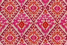 Ikat / print & embroidery motifs
