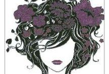 Keresztszemes minták / Madame Butterfly-lila