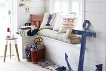 Nautical Theme / Bring the style of the water into your home with this board of nautical home decor inspirations.   / by Sailrite