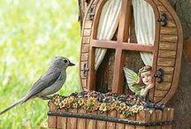 Perhosbaari ja lintujenruokala