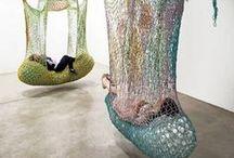 Fiber art and Textile Art, kuituja sekä kuvioita
