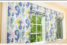 Window Treatments / Find fabrics, inspiration & instructions for making your own curtains, drapes and roman shades. / by Sailrite