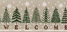 Alberi di Natale a punto croce