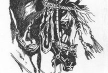 Horse Art / Horse artwork from H Gibson and other artists.