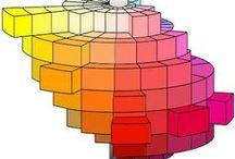 Colorimétrie / Puisqu'il y a 3 types de cônes, le système visuel humain peut à partir de la combinaison de 3 couleurs primaires correctement choisies reconstituer toutes les couleurs visibles.. Mélanges additifs Mélanges soustractifs