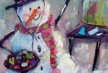 Ilustraciones de Navidad / Bella navidad / by Alexandra Hasbún