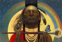 Shamans from all my relations / Remembering that we are all connected. From the ancient traditions from those who were connected to creation. All my relations.