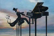 Muzyka - art. / by Małgorzata Kowalska