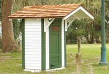 Small Outdoor Storage / Sometimes small is all you need. Small storage shed ideas.