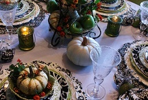 Autumn Tablescapes / Thanksgiving, Fall, Autumn, Tablescapes, Table Settings / by Diana Preston