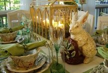 Spring Tablescapes / Spring table settings and centerpieces / by Diana Preston