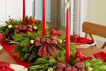 Winter Tablescapes / Winter, Christmas, Tablescapes, Table Settings / by Diana Preston