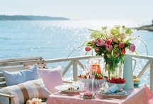 Summer Tablescapes / Outdoor Entertaining, Tablescapes, Table Settings, / by Diana Preston