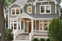 Home - Exteriors / Nice designs for the main exterior of a house, along with ideas for decks, porches, garages, and landscaping elements. / by Jackie S