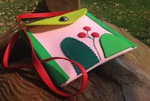 For small girls / Happy and colourfull handbags for small girls. Made by other small girl and her mum. With love :)
