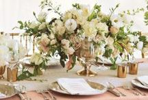 Centerpieces / We love low, high, monochromatic, mixed medium, long, short, and all different variations.