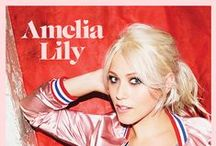 Amelia Lily / Artist board for Amelia Lily, signed to East West record label.