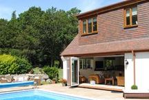 Modern Alterations to country home in Minstead / Modernisation of an existing country property with private pool