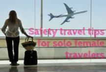 Female Travel Safety / To #travel #solo is a great experience . But one should always act wisely. Here are the best #female #travel #solo #tips I found at Pinterest :)