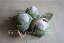 цветоделие / цветы из ткани,атласной ленты