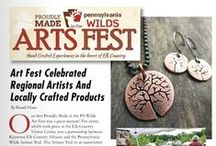 PA Wilds Arts Fest / Annual Arts Fest held at the Elk Country Visitor Center, Benezette, Pa., Elk County #PAWidsMade