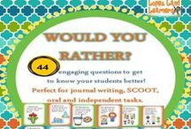 MY TPT CREATED Common Core Resources / These are items that I have created for my classroom that I have listed on Teachers Pay Teachers and Teachers Notebook.