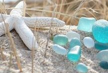 Beach glass and sea treasures