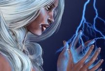"""PC: Ororo """"Storm"""" Munroe / Favorite Hero.  If the original artist sees any of their work on this board, that doesn't give proper credit or they just don't want it here, please message me and I will fix or remove it."""