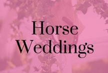 Horse Weddings / Inspiration for your perfect day, combining both traditional and horsey ideas for your wedding! Seating, transport, dresses, jewellery and decorations.