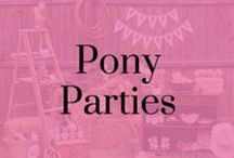 Pony Parties / Party ideas for horse mad children! Painting by numbers, mug painting, stickers, and horse party decorations.