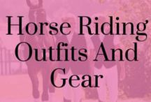 Horse Riding Outfits and Gear / Beautiful and unique horse riding outfits, including jodphurs, breeches, hats, gloves, show shirts, show jackets, boots, socks and horsey accessories!