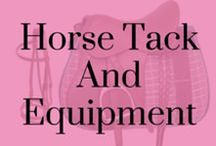 Horse Tack and Equipment / A selection of everything that is fashionable for the horse! From Bridles to saddles, glitter to leather-we have found all the coolest horsey equipment on the web!