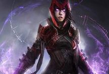 """PC: Wanda """"Scarlet Witch"""" Maximoff / All about Scarlet.  If the original artist sees any of their work on this board, that doesn't give proper credit or they just don't want it here, please message me and I will fix or remove it."""
