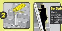 How to use ladders on stairs