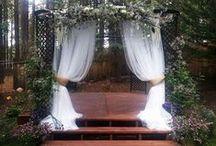 Outdoor Wedding Drape / Rustic Outdoor Wedding Drapery and draping