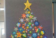 Joulu-ja talviaskartelua ja värityskuvia