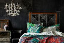 Boho and exotic decor and inspiration / Eclectic design inspirations and more. Bohemian, Boho, Gypsy, India, Turkey, Mediterannean, Morocco, Africa.