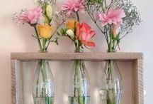DIY Vases / Some great ideas here to reuse old jars and bottles etc to create your own unique vase.