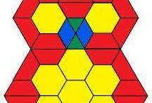 Hahmotusjuttuja (Pattern block,pentomino...)