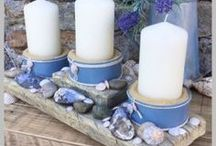 Beach crafts / Coastal themed home ideas, reuse driftwood, shells, rope and pebbles to create great beach home decor.
