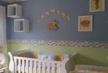 Under The Sea Creatures / Sea themed nursery linen, sea themed wallpaper borders and decor