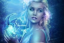 Fantasy Art / I love art, I love fantasy. So when you put the two together it's bliss. But when you add color and sparkles, I'm in heaven!