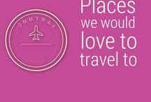 Travel destinations / Aquí pondremos algunos lugares que recomendamos o queremos visitar. Compartenos tu destino favorito. • Here we'll some places that we recommend or want to visit. Share your favorite or next destination.