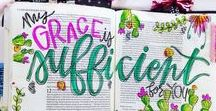 Bible Journaling / Ideas and inspiration for bible journaling.  Info on what bibles are the best, what are the best tools of the trade, and how to use different media.