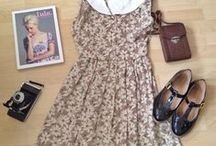 Spring ❀/ Summer ☀ / clothes for warm weather <3 short skirts and dresses, light fabrics, pastels, florals..