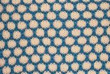 Knitting stitches: slip stitch / Knitting stitch patterns using slip stitch techniques, including mosaic knitting