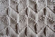 Knitting stitches: knit purl / Knitting stitch patterns in knit and purl, usually reversible!
