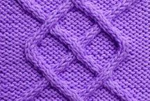 Knitting stitches: cables / Knitting stitch patterns with cables