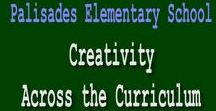 """Creativity / Our focus at Palisades Elementary School is """"Creativity Across the Curriculum.""""   Students will need the following skills to be successful in the 21st Century: Communication, Creativity, Critical Thinking & Collaboration"""