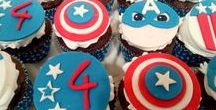 Captain America / Caprtain America τούρτες, cup cakes, μπισκότα, cake pops, σχέδια, πατρόν.